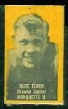 Bert Turek (yellow) 1950 Topps Felt Backs football card