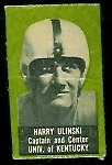 Harry Ulinski 1950 Topps Felt Backs football card