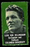 Leon Van Billingham 1950 Topps Felt Backs football card