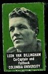Leon Van Billingham 1950 Topps Felt Backs football card