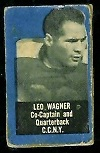 Leo Wagner 1950 Topps Felt Backs football card
