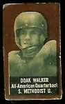 Doak Walker (brown) 1950 Topps Felt Backs football card