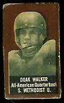 Doak Walker (brown) 1950 Topps Felt Backs football card