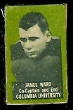 Jim Ward 1950 Topps Felt Backs football card