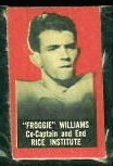 Froggy Williams 1950 Topps Felt Backs football card