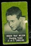 Roger Wilson 1950 Topps Felt Backs football card