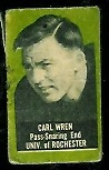 Carl Wren 1950 Topps Felt Backs football card