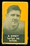 Al Burnett (yellow) 1950 Topps Felt Backs football card
