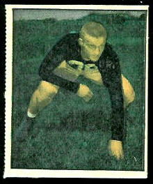 Jim Martin 1951 Berk Ross football card