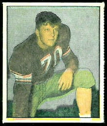 Wade Walker 1951 Berk Ross football card