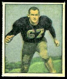 Rodney Franz 1951 Berk Ross football card