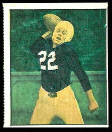 Charlie Justice 1951 Berk Ross football card