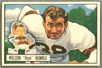 Weldon Humble 1951 Bowman football card