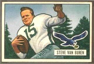 Steve Van Buren 1951 Bowman football card