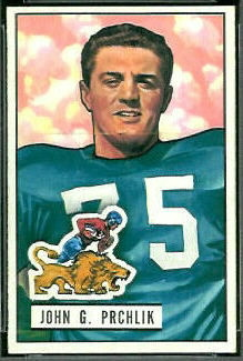 John Prchlik 1951 Bowman football card