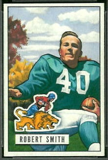 Robert Smith 1951 Bowman football card