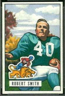 Robert Smith 1951 Bowman football card