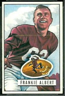 Frankie Albert 1951 Bowman football card