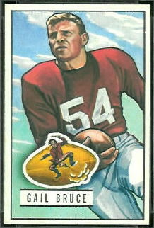 Gail Bruce 1951 Bowman football card