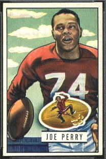 Joe Perry 1951 Bowman football card