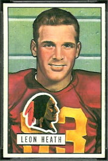 Leon Heath 1951 Bowman football card