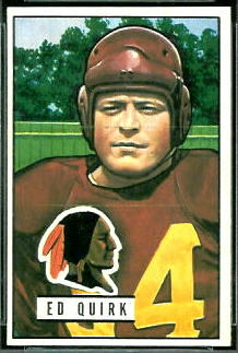 Ed Quirk 1951 Bowman football card
