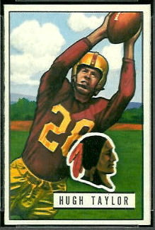 Hugh Taylor 1951 Bowman football card
