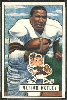 Marion Motley 1951 Bowman football card