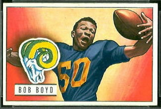 Bob Boyd 1951 Bowman football card