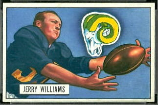 Jerome Williams 1951 Bowman football card