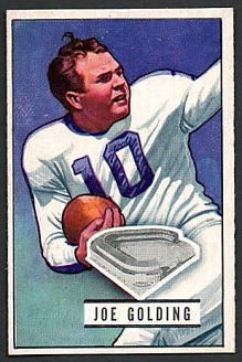 Joe Golding 1951 Bowman football card