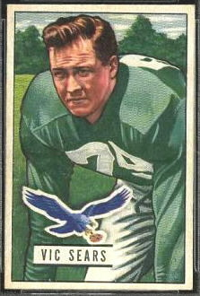 Vic Sears 1951 Bowman football card