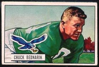 Chuck Bednarik 1951 Bowman football card