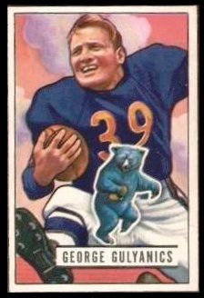 George Gulyanics 1951 Bowman football card