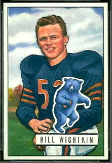 Bill Wightkin 1951 Bowman football card