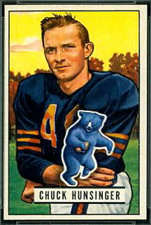 Chuck Hunsinger 1951 Bowman football card