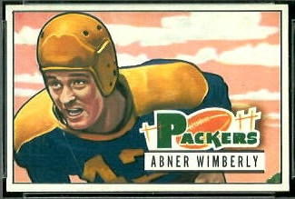 Abner Wimberly 1951 Bowman football card