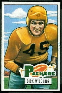 Dick Wildung 1951 Bowman football card