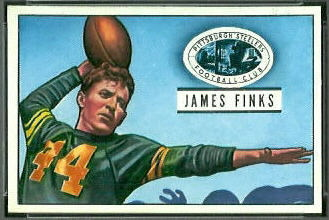 Jim Finks 1951 Bowman football card