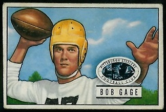 Bob Gage 1951 Bowman football card