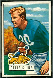 Ollie Cline 1951 Bowman football card