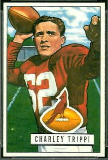 Charley Trippi 1951 Bowman football card