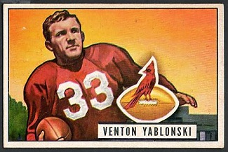 Ventan Yablonski 1951 Bowman football card