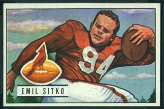 Emil Sitko 1951 Bowman football card
