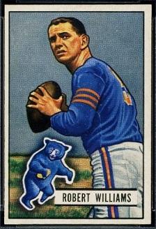 Bob Williams 1951 Bowman football card