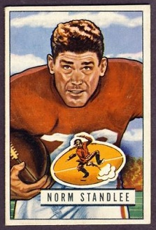 Norm Standlee 1951 Bowman football card