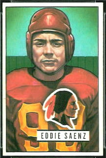Eddie Saenz 1951 Bowman football card