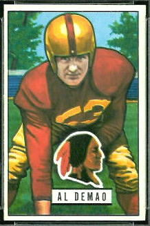 Al Demao 1951 Bowman football card