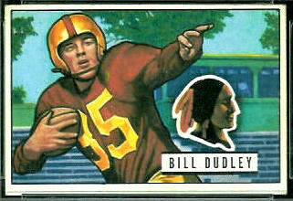 Bill Dudley 1951 Bowman football card