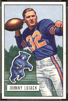John Lujack 1951 Bowman football card